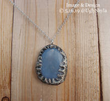 Huge Angelite Crystal Necklace by Ugly Shyla