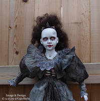 Bride of Frankenstein Art Doll By Ugly Shyla