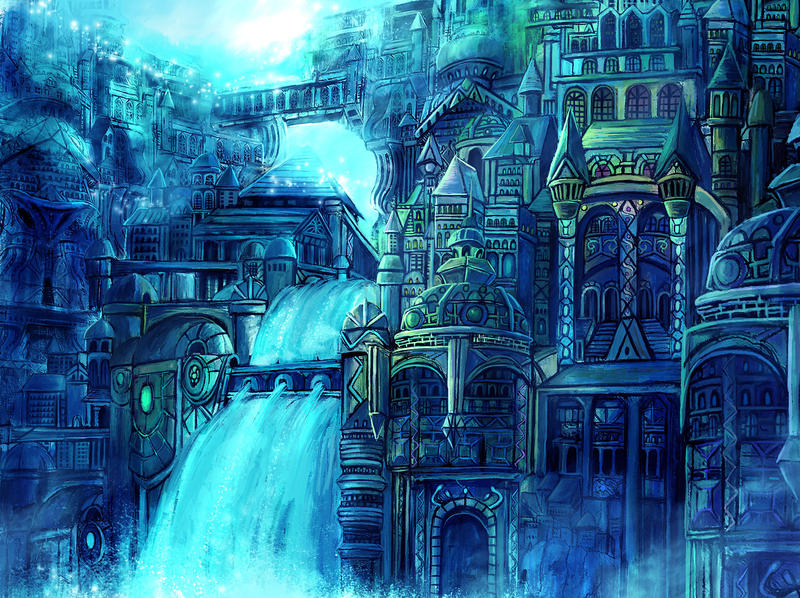 Fantasy art city - photo#8