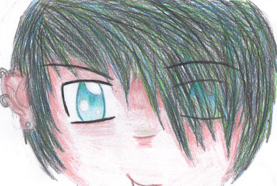 cute anime emo boy. cute anime emo boy.