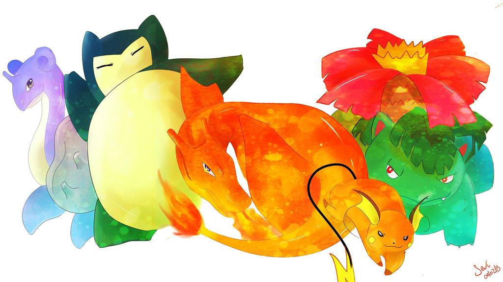 My Pokemon Team by SeviYummy