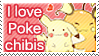I love poke chibis Stamp by SeviYummy