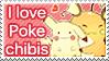 I love poke chibis Stamp by SeviYummy