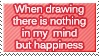 When drawing...