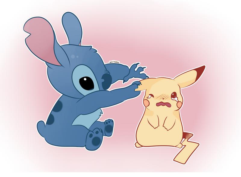 Stitch and Pikachu by SeviYummy on DeviantArt