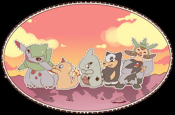 COMMISSION: Pokemon Team 2 by SeviYummy