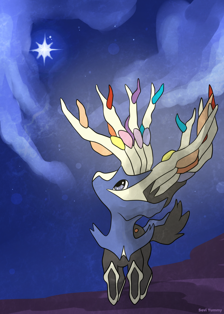 COMMISSION: Chibi Xerneas by SeviYummy