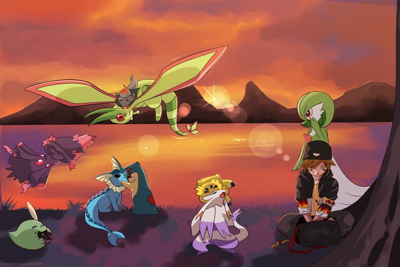 COMMISSION: Pokemon Team 3 by SeviYummy
