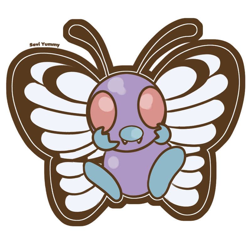 Chibi Butterfree - SPEED PAINTING VIDEO! - by SeviYummy