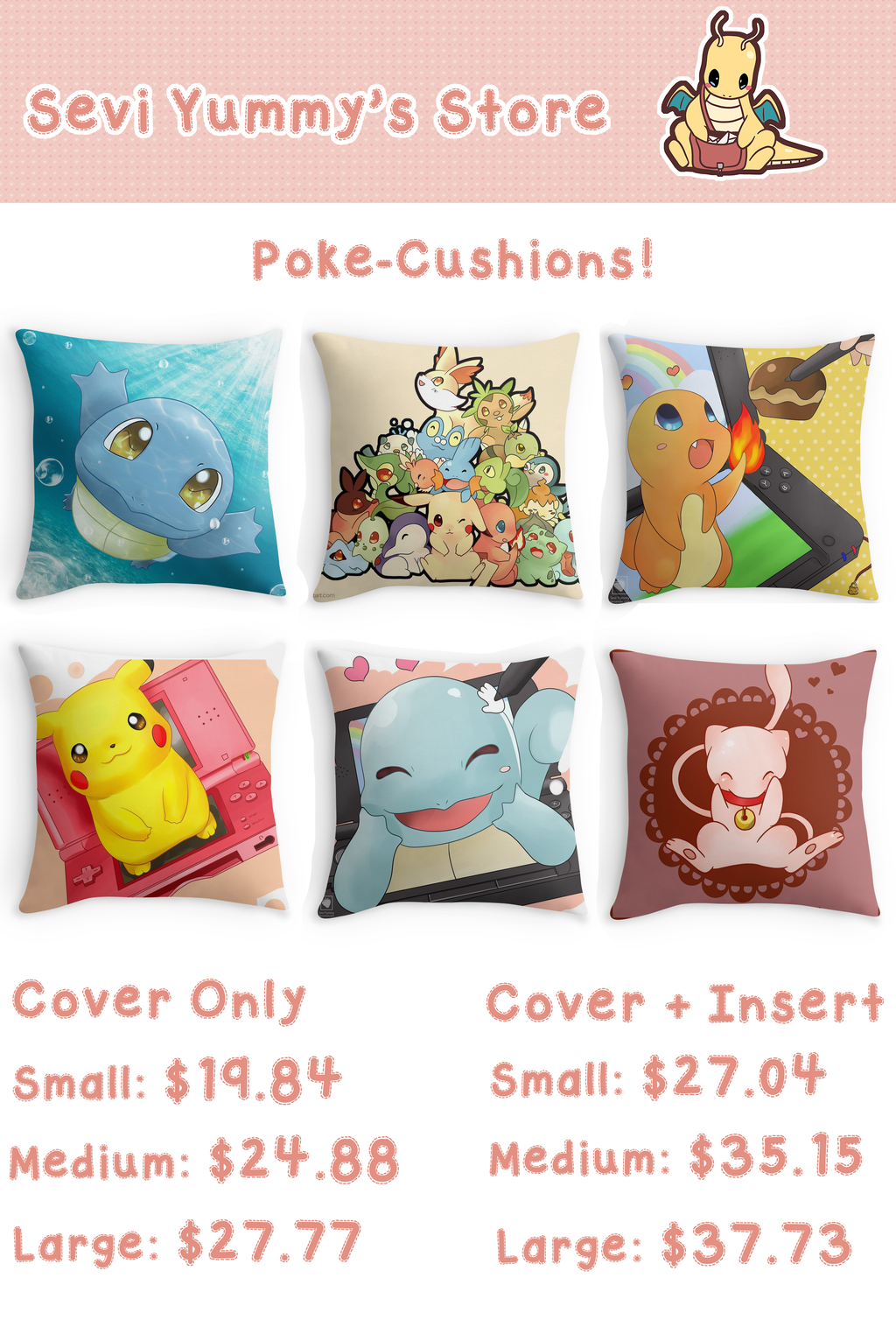 Pokemon Cushions! by SeviYummy