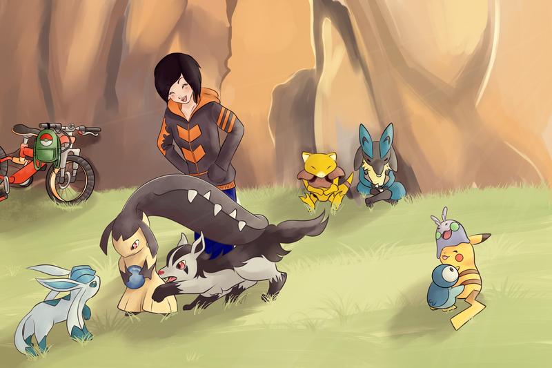 COMMISSION: Pokemon Team 4 by SeviYummy