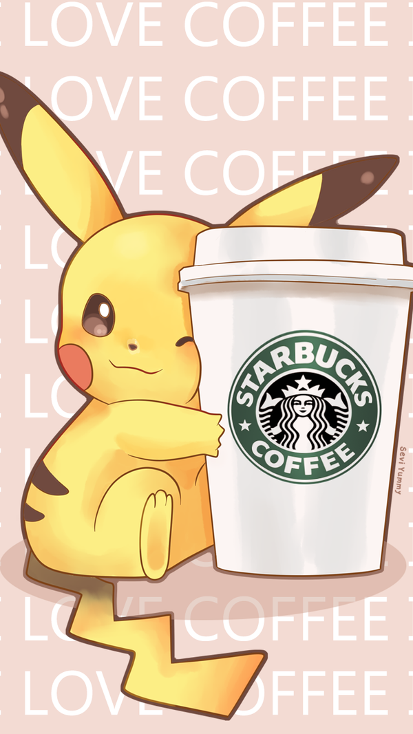 Love coffee Wallpapers For Iphone : Pikachu Phone Wallpaper FREE by SeviYummy