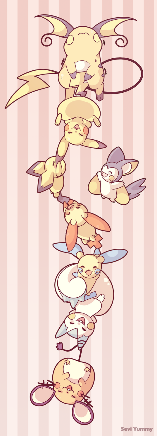Pikachu Family by SeviYummy