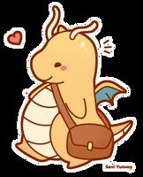 Chibi Dragonite by SeviYummy