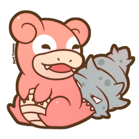 COMMISSION: Chibi Slowbro by SeviYummy