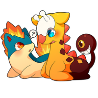COMMISSION: Quilava and Girafarig by SeviYummy