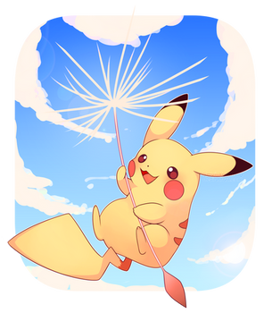 [COMMISSION] Flying Pikachu