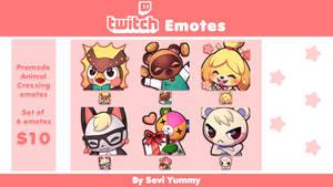 Animal Crossing P2U Emotes