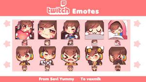 [COMMISSION] Dva Emotes