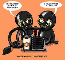 Gasmask inhaler latex rubber fetish breathplay by ElenaDarkBerry