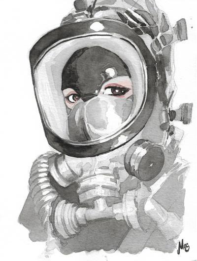 Gasmask Ink selftportrait