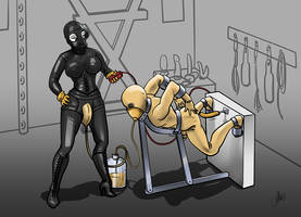 Latex and Femdom commission by ElenaDarkBerry