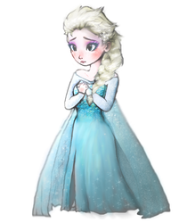 Queen Elsa as a chibi or some kinda by Wulcanis