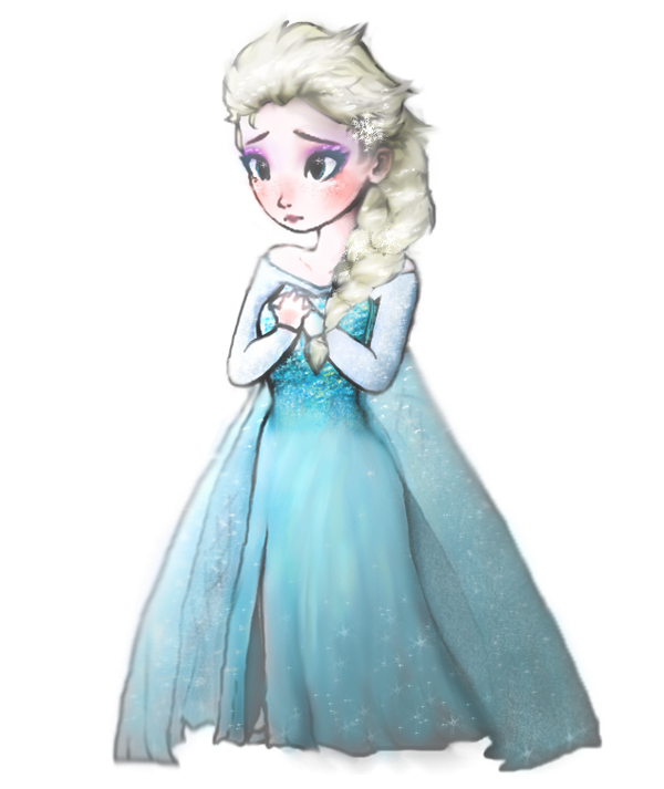 Queen elsa as a chibi or some kinda by wulcanis on deviantart for Disegnare elsa frozen