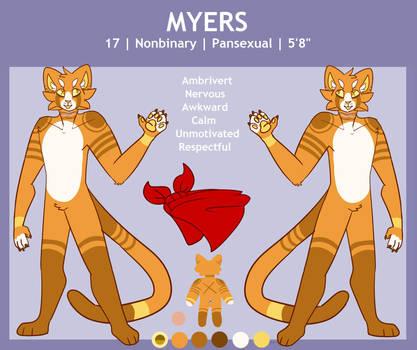 Myers | Fursona | New Reference Sheet