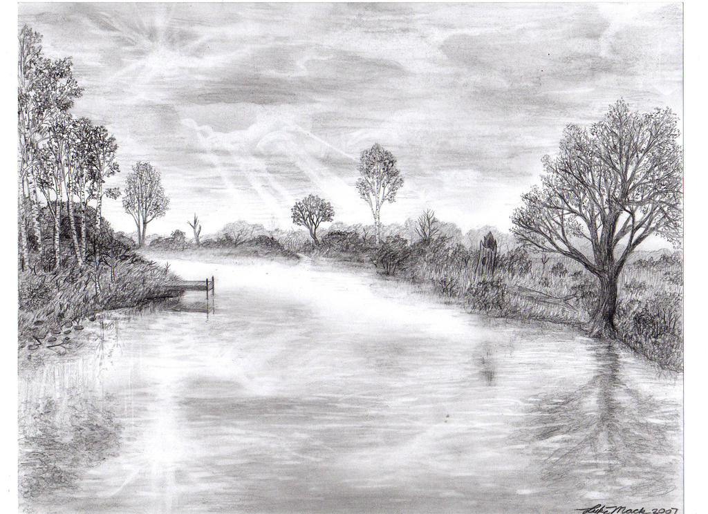 Nature made from a pencil by lukemack