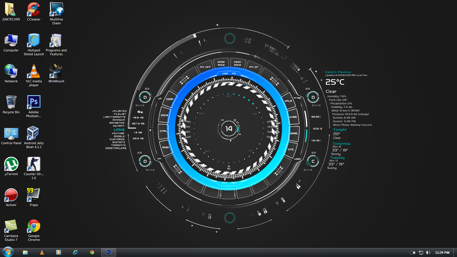 Windows 7 rainmeter by zaktech90 on deviantart for Bureau windows 7 rainmeter