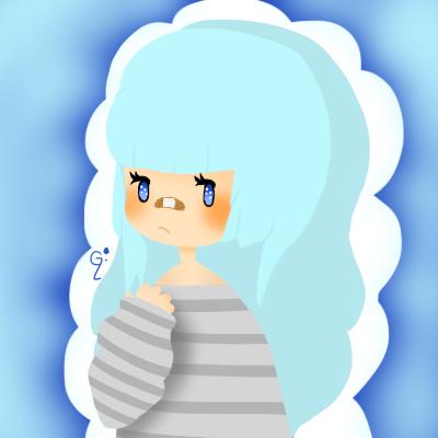 Blue Girl by WickedTsune
