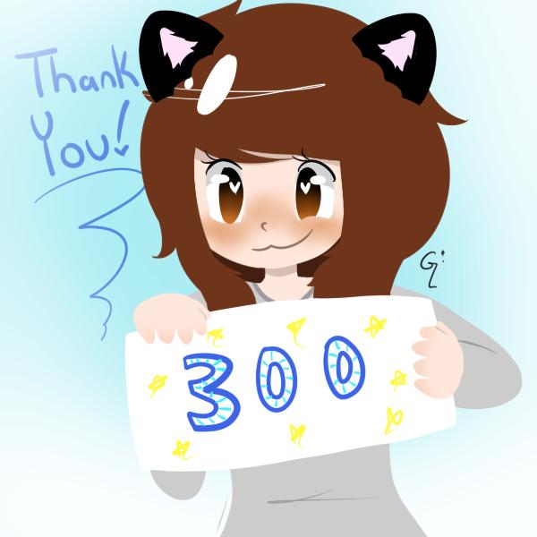 300 Followers by WickedTsune