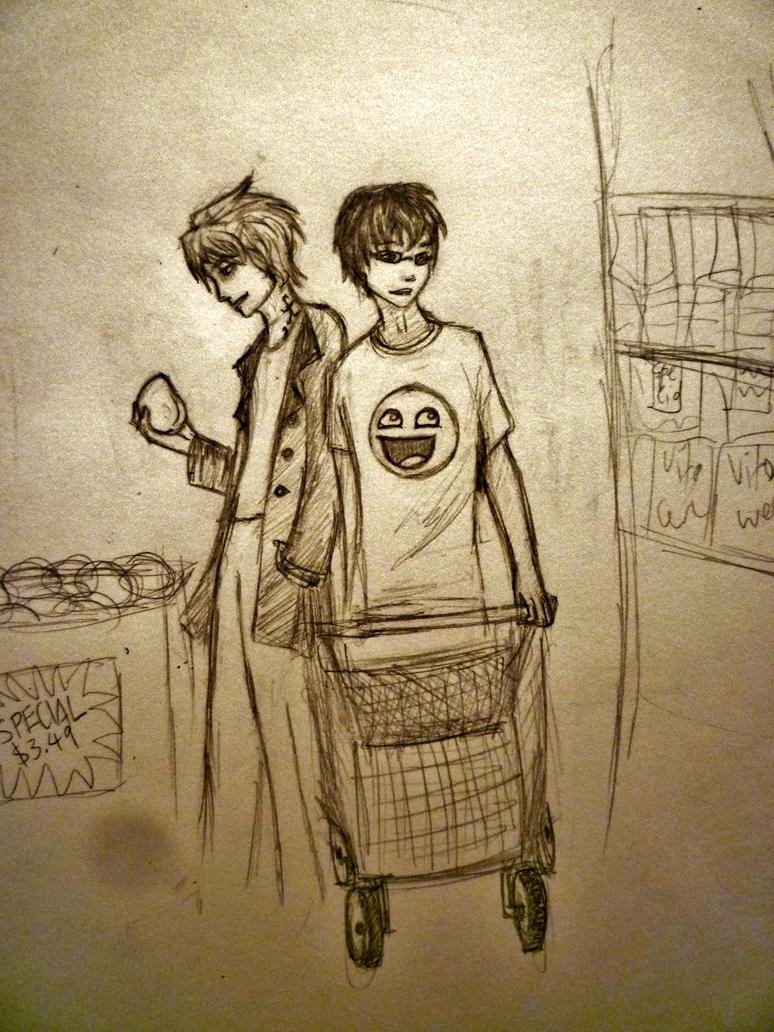 A little Midnight Shopping by walrusbukkit