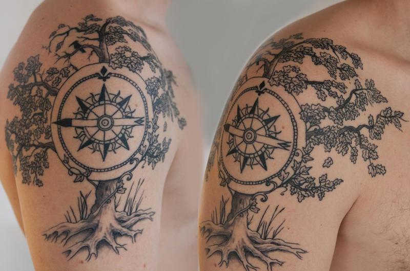 tree tattoo by tpenttil on deviantart. Black Bedroom Furniture Sets. Home Design Ideas
