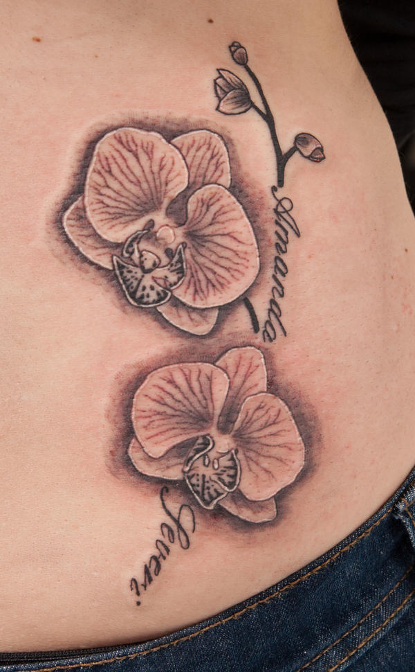 Orchid tattoo by tpenttil on DeviantArt