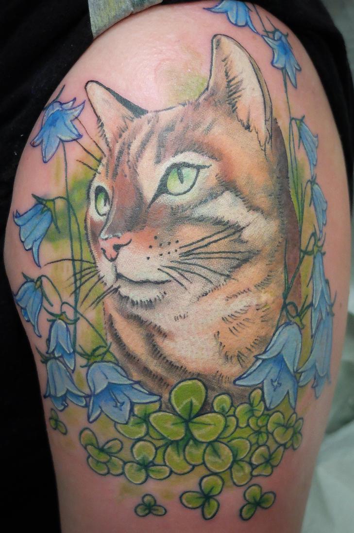 Cat tattoo by tpenttil