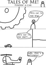Tales o' me-findin' a car.