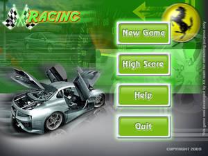 Racing games menu