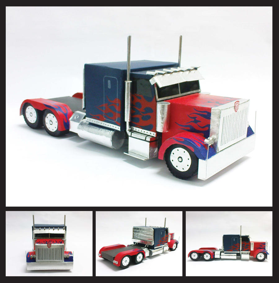 Optimus Prime Truck Cake