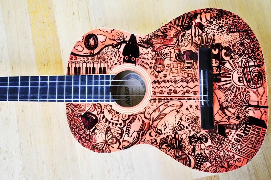 Guitar Designs Art : Doodle guitar design by ankleanna on deviantart
