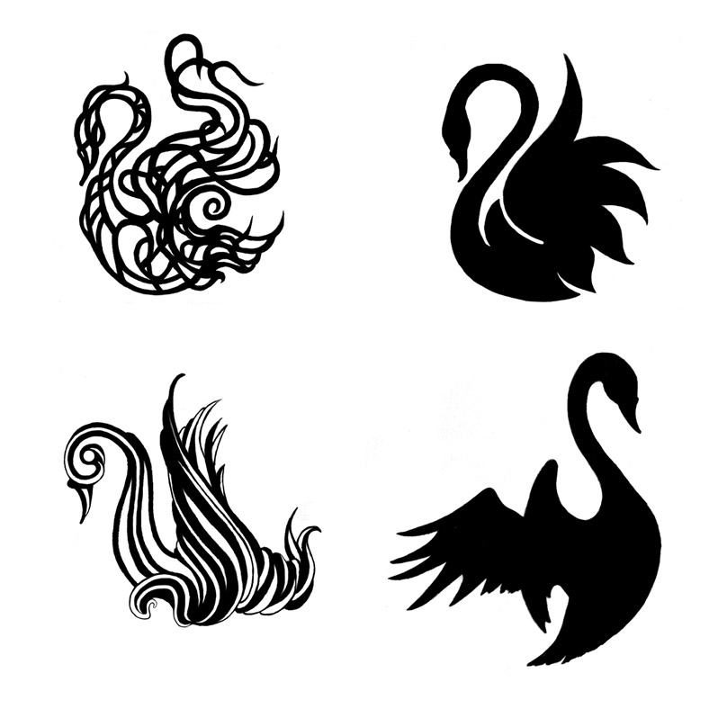 swan tattoos by thisinfinitetrip on deviantart. Black Bedroom Furniture Sets. Home Design Ideas