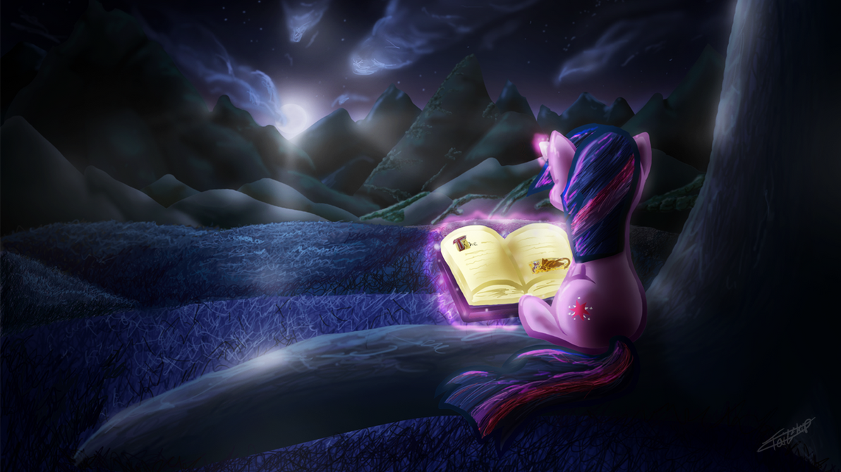 Under the glow of a twilight moon by Tailzkip