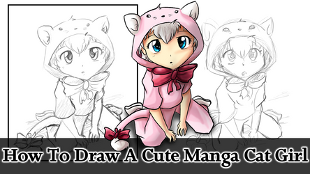 How To Draw A Cute Manga Cat Girl