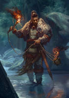Knight of Wands - Khazar Bagathur by JoelChaimHoltzman