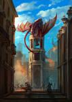 Dragon's attack by JoelChaimHoltzman