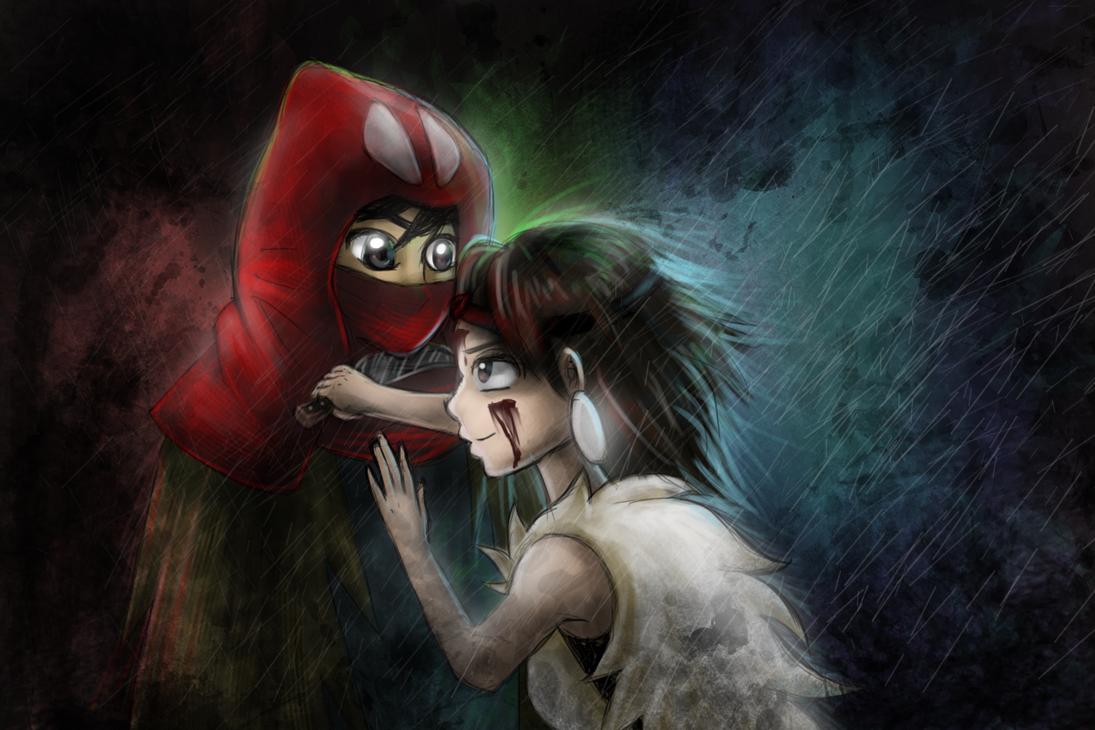 princess mononoke and ashitaka by AngelBunnyXOXO