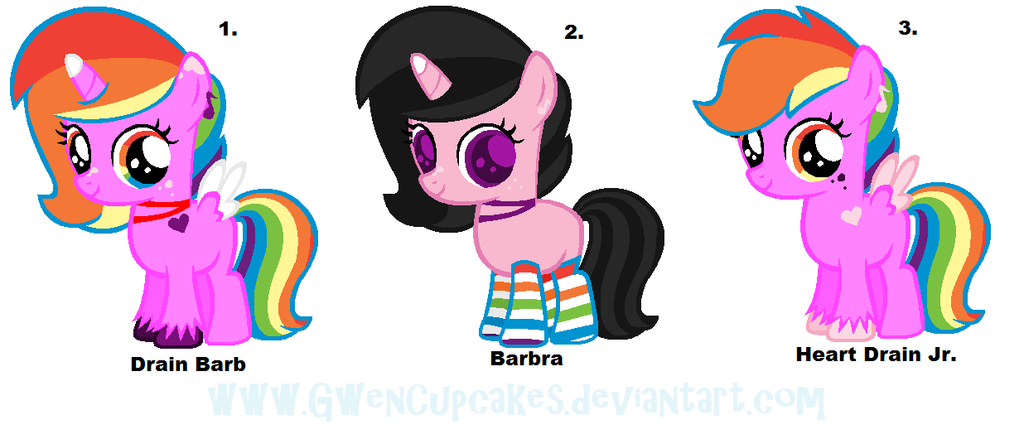 Heart Drain X Barb adoptables :CLOSED: by GwenCupcakes