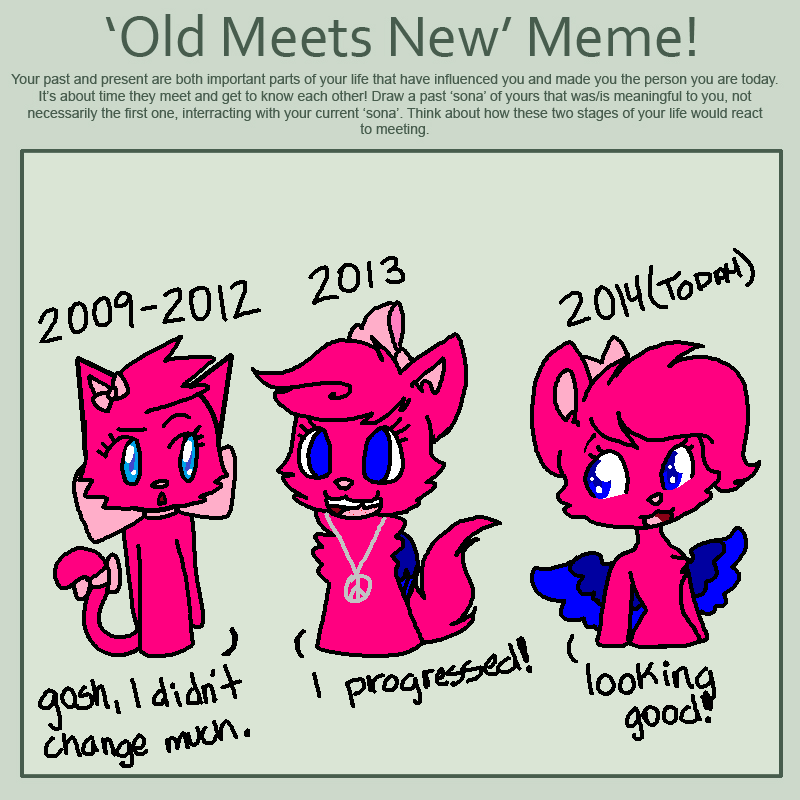 Old meets the new meme by GwenCupcakes