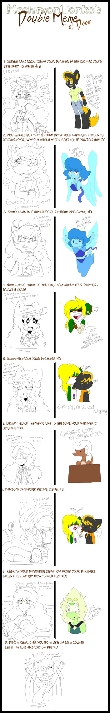 Double Meme With jquest1170 :COLLAB+MEME: by GwenCupcakes